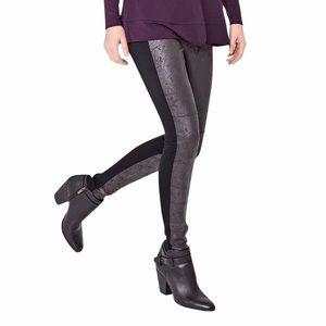 Lysse Rue Foil Vegan Leather Front Leggings